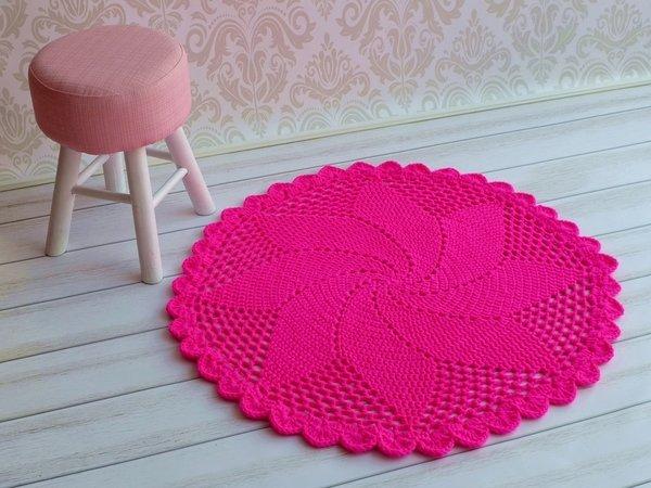 h kelanleitung teppich rosetta schnell und leicht f r. Black Bedroom Furniture Sets. Home Design Ideas