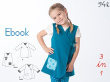 "Girls dress pattern, baby tunic dress, pinafore jacket, reversible wrap dress, baby dress, E-Book sewing pattern ""Marie"" from Pattern4kids"
