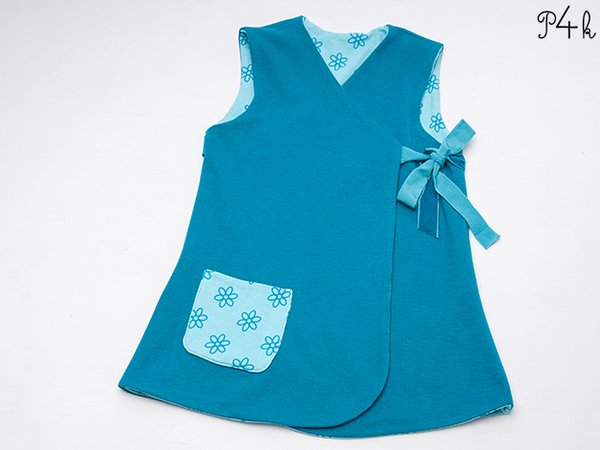 Girls Dress Pattern Baby Tunic Dress Pinafore Jacket Reversible