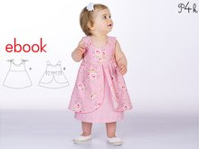 "Baby pinafore dress pattern, baby-dress pattern, girls dress patterns, summer-dress, one-piece, easy E-Book pattern ""Rosa"" from Pattern4kids"