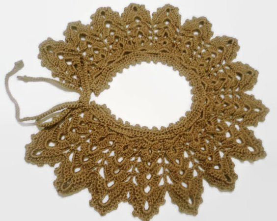 Beginner Pattern Crochet Collar Lace Scarf For Women Permission To