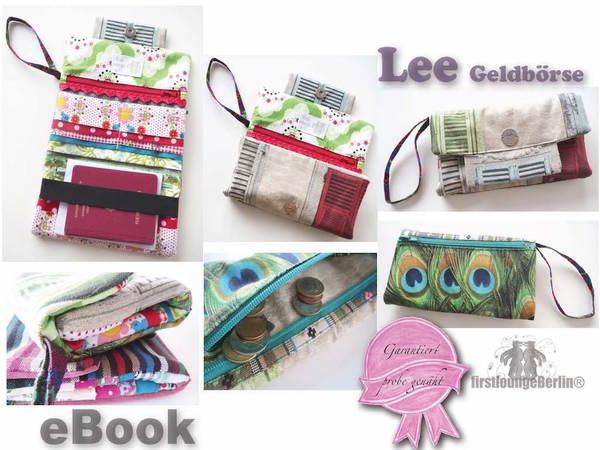 Lee Geldbörse Ebook Portmonee Pdf Datei Nähen Ohne Schnittmusterausdruck Handmade With Love Von Firstloungeberlin