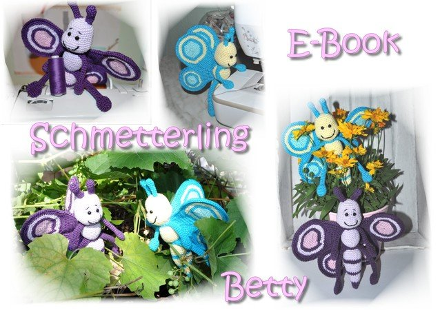 E Book Amigurumi Schmetterling Betty Häkelanleitung Butterfly