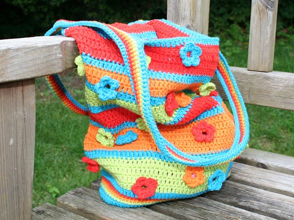Crochet Bag - See-through Flowers - Crochet Pattern