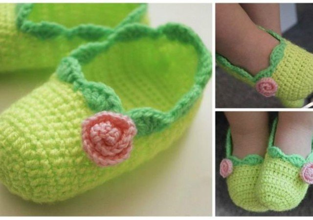 Free Crochet Pattern Baby Ballet Slippers Size 6 15 18 Month