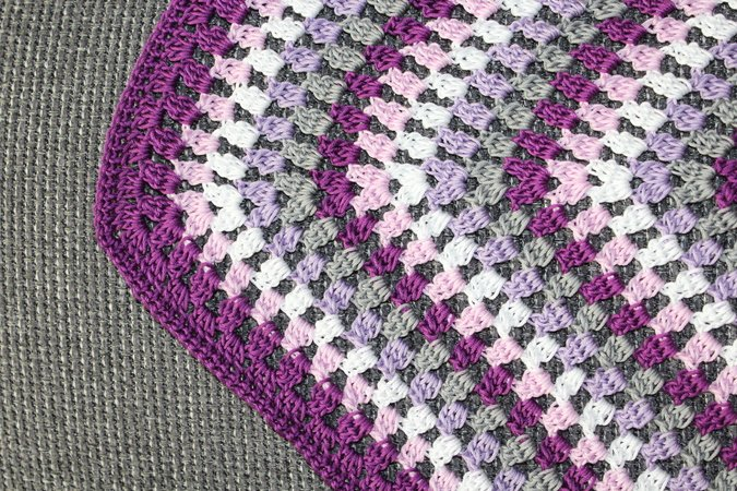 crochet pattern baby blanket hexagonal granny