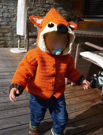 "E-Book ""Fox-Jacket"" size newborn up to age 8 years"