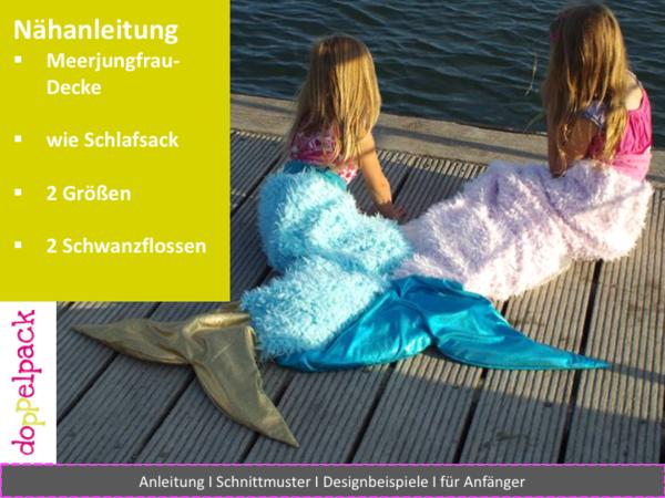 Meerjungfrauen-Decke, Schlafsack, Meerjungfrau, Nähen