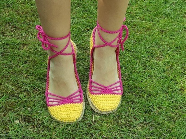 Crochet Pattern Summer Sandals, Sizes UK: 3,5-7,5 US: 5,5-9,5