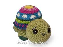 Cindy Turtle The Ami - Amigurumi Crochet Pattern
