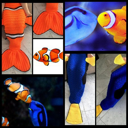 Nemo and Dory Couchblanket for adults/children