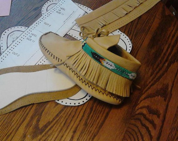 Size 6 Women's Moccasin Pattern-Ankle