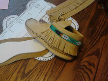 Size 7 Women's Moccasin-Ankle-Pattern