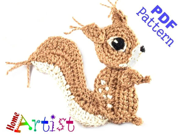 Amigurumi Squirrel Girl free crochet pattern | The Sun and the Turtle | 450x600