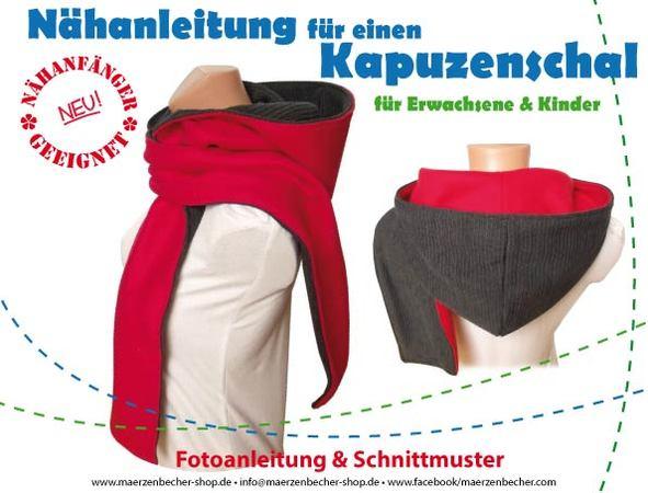 Kapuzenschal Nähanleitung & Schnittmuster