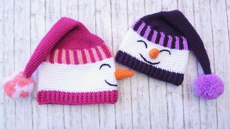 Mütze Häkeln Wunderbar Mit Schneemannmotiv