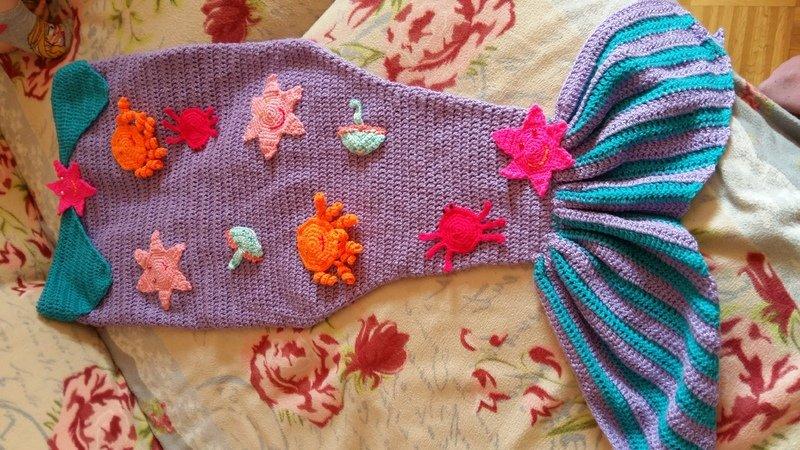 Meerjungfrau Decke Mit Applikationen Für Kinder Ca 5 Jährige