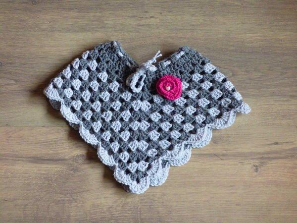 Häkelanleitung - Poncho Granny Rose - sehr einfach