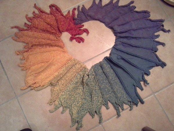 Tuch stricken + Farbwechsel++Fortgeschrittene