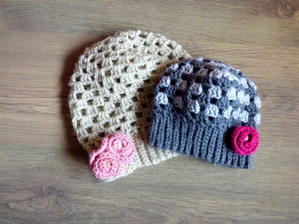Häkelanleitung - Mütze Granny Rose - einfach