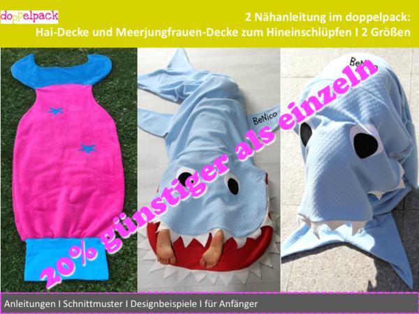 Hai-Decke und Meerjungfrau-Decke, zwei Nähanleitungen