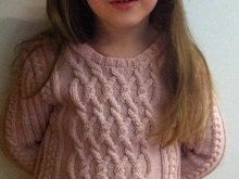 Charmeine - Cable Jumper for Girls - 5 years - 122 - Knitting Pattern PDF Instant Digital Download