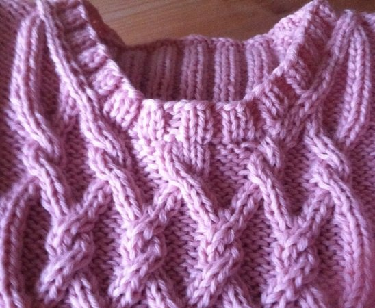 Charmeine Cable Jumper For Girls 5 Years 122 Knitting