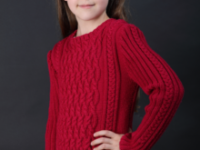 Charmeine - Cable Jumper for Girls, Sizes 116-140 (EU) resp. 6-10 (US)