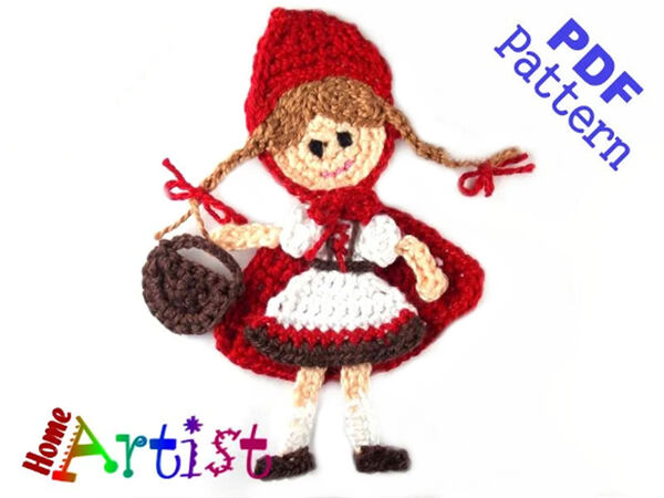 Red Riding Hood Crochet Applique Pattern