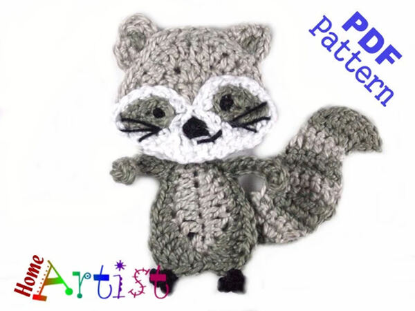 2 in 1: Crochet pattern Raccoon, Crochet pattern Fox | 450x600