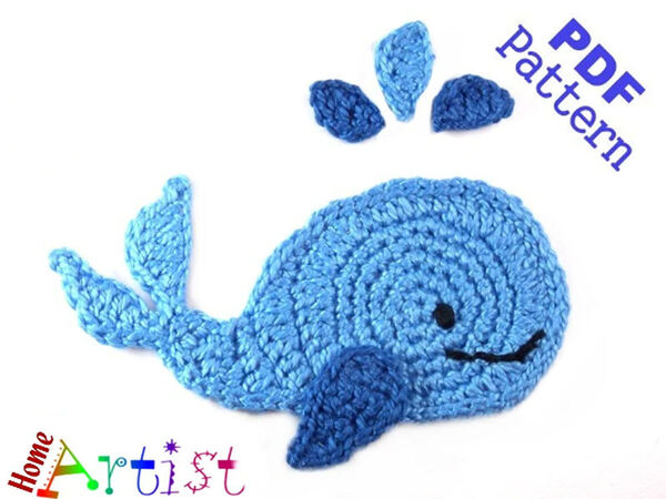 Whale Crochet Applique Pattern