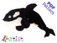 Orca Whale crochet Applique Pattern