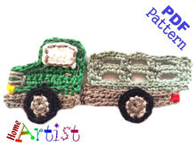 Farm Truck Crochet Applique Pattern