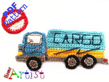 Cargo Truck Crochet Applique Pattern