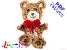 Teddy Bear Crochet Applique Pattern