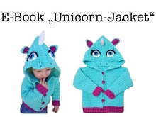 "E-Book ""Unicorn-Jacket"" size newborn up to age 8 years"