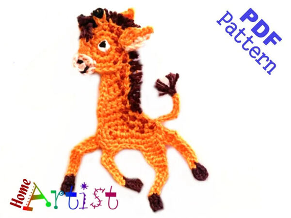 Giraffe Crochet Applique Pattern