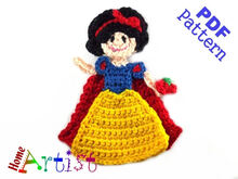 Snow White Crochet Applique Pattern