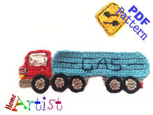 Gas Tank Truck Crochet Applique Pattern