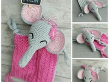 Crochet Pattern Snuggly Blanket Elephant