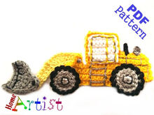Loader crochet Applique Pattern