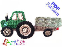 Tractor crochet Applique Pattern