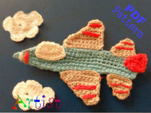 Jet aircraft crochet Applique Pattern