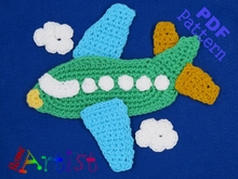 Airplane 2 crochet Applique Pattern