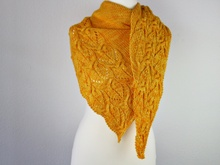 "Strickanleitung Tuch ""Sunflowers"""