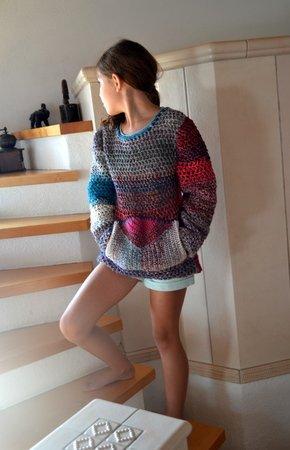 Häkelanleitung Mädchen Pullover