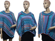 Strickanleitung Poncho blue dream