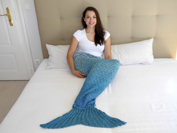 Knitting Pattern - Mermaid Blanket - No.148E