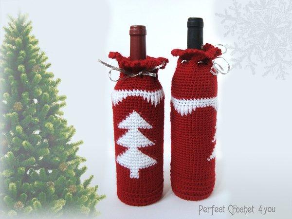 Weihnachten Weinflasche Tasche Muster, Weihnachtsgeschenkidee ...