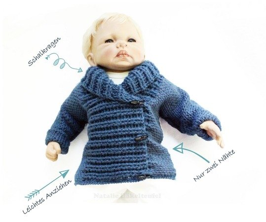 "Spar-Set 2 in 1: Kinderjacke & Pumphose ""Denim"", Gr. 50-116"